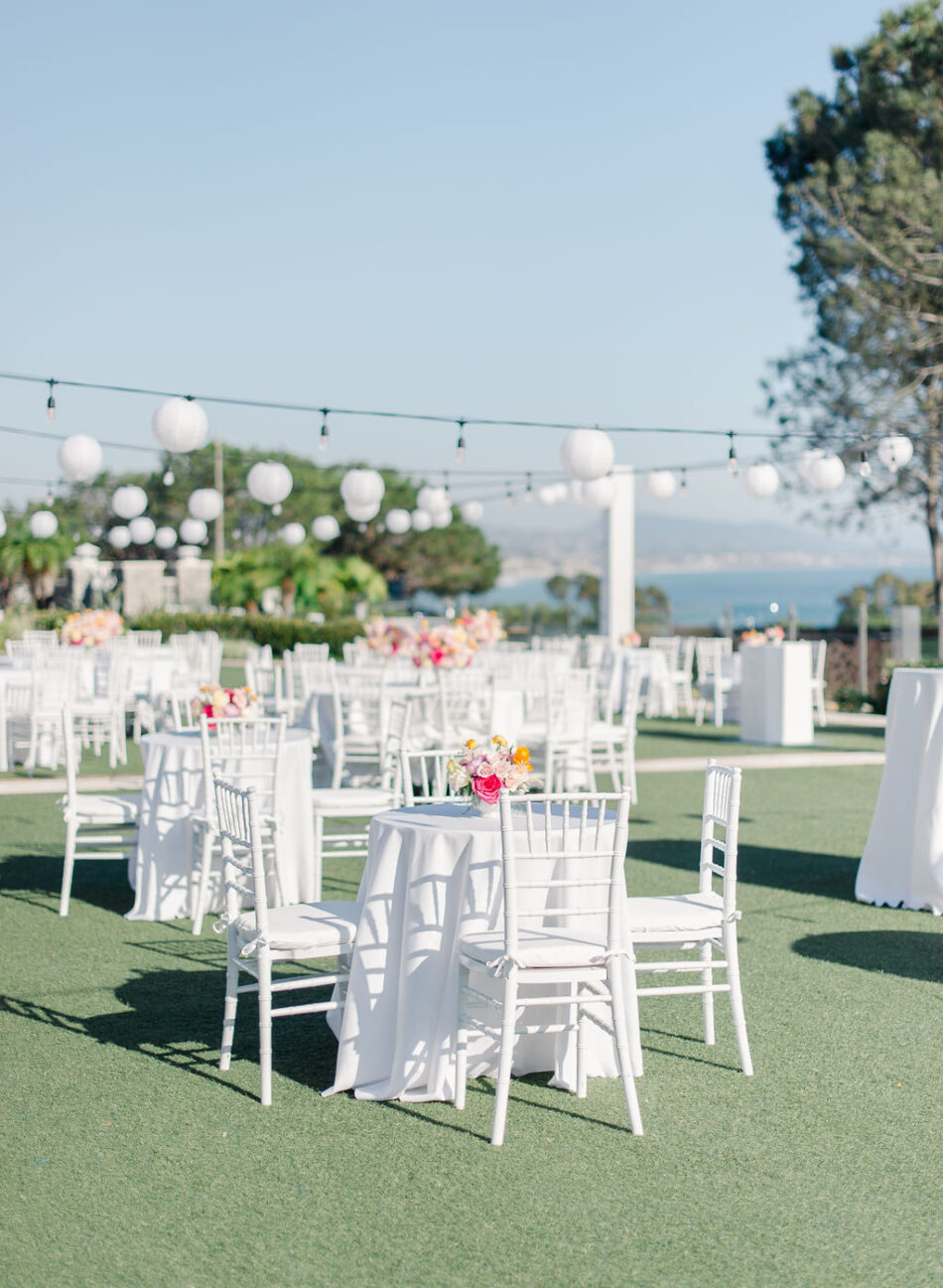 outdoor reception, oceanfront reception, vibrant reception florals, gorgeous oceanfront wedding, floral design, florist, wedding florist, wedding flowers, orange county weddings, orange county wedding florist, orange county florist, orange county floral design, flowers by cina