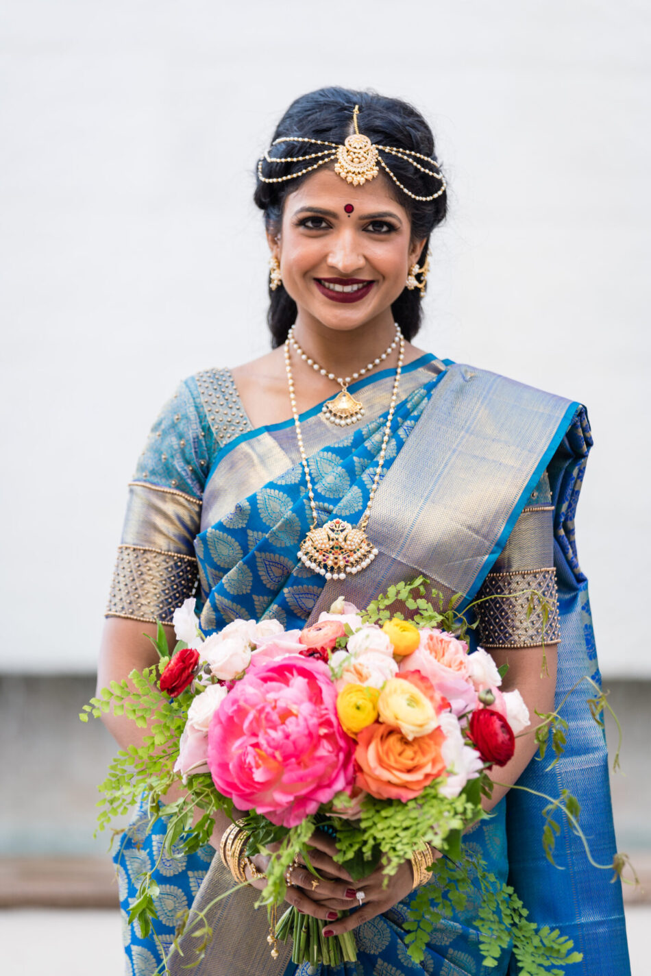 indian wedding, colorful bridal look, stunning vibrant wedding, floral design, florist, wedding florist, wedding flowers, orange county weddings, orange county wedding florist, orange county florist, orange county floral design, flowers by cina