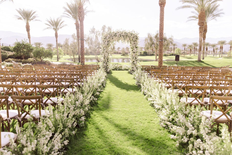 all-white ceremony florals, floral-lined aisle, memorable floral-filled ceremony setups, floral design, florist, wedding florist, wedding flowers, orange county weddings, orange county wedding florist, orange county florist, orange county floral design, flowers by cina