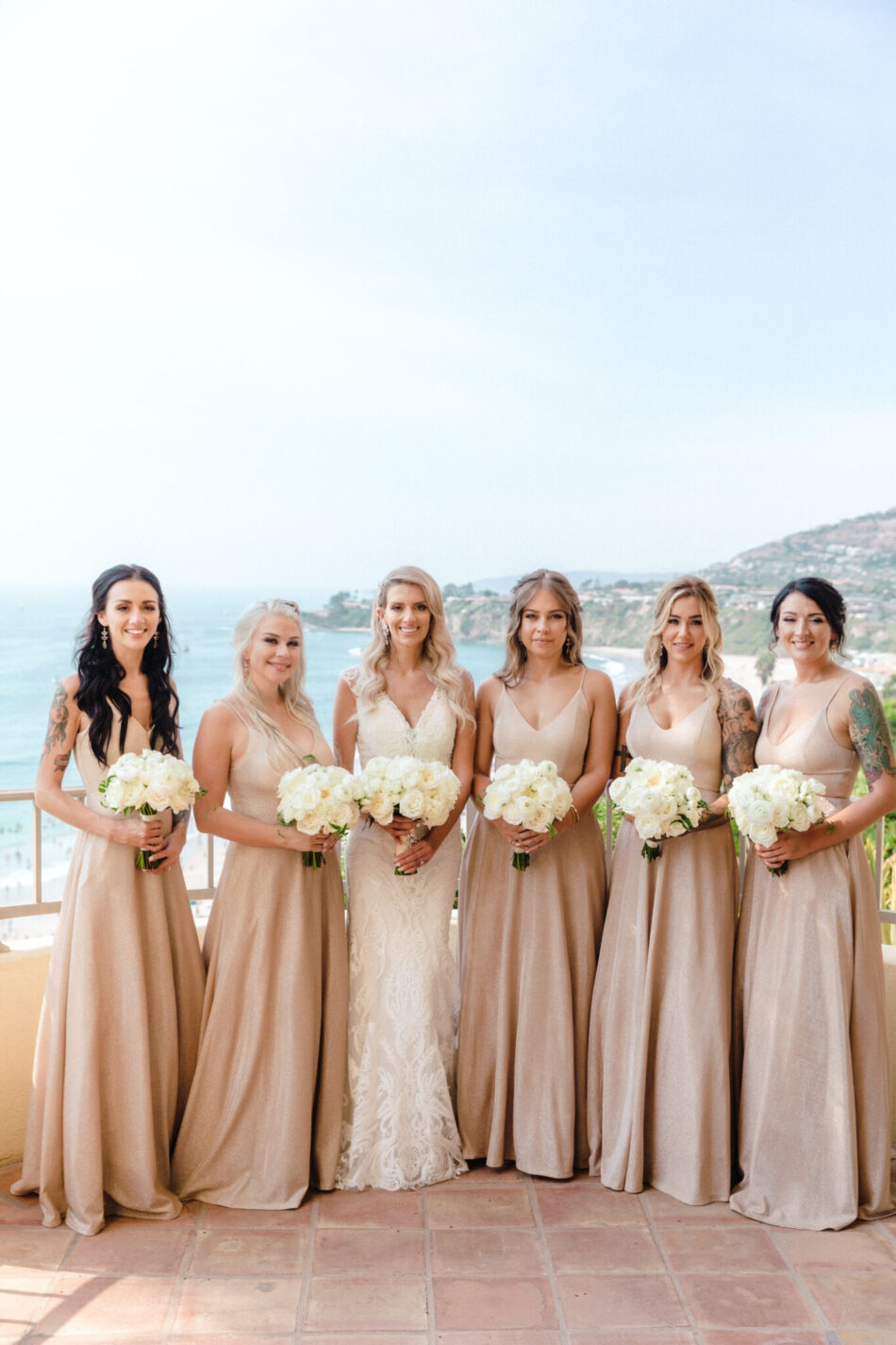 blush bridesmaid dress, bridesmaids, beautiful floral-filled wedding, floral design, florist, wedding florist, wedding flowers, orange county weddings, orange county wedding florist, orange county florist, orange county floral design, flowers by cina